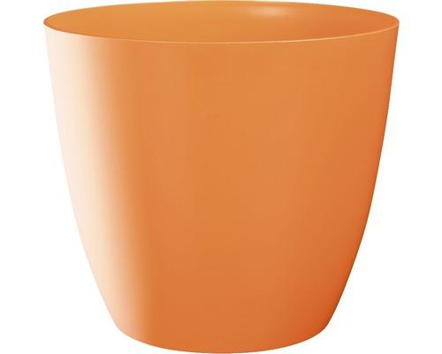Blumentopf Ella gloss Kunststoff Ø 9 H 8 cm orange