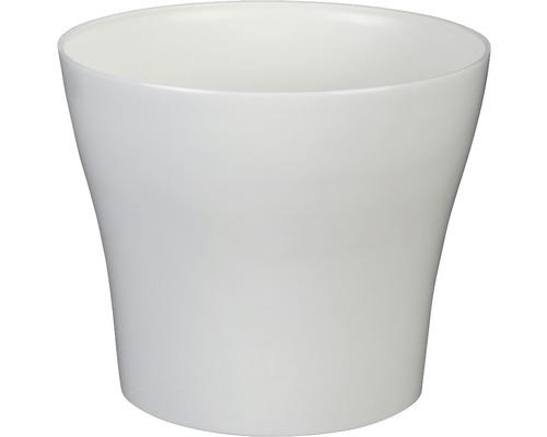 Blumentopf Tulipan gloss Kunststoff Ø 13 H 10,9 cm weiß