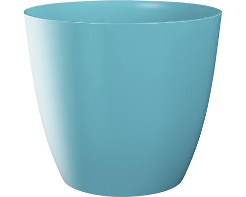 Blumentopf Ella gloss Kunststoff Ø 9 H 8 cm blau