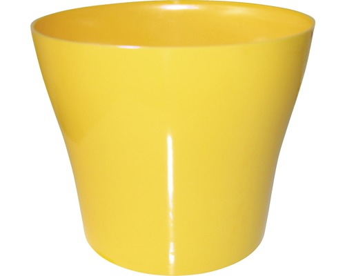 Blumentopf Tulipan gloss Kunststoff Ø 13 H 10,9 cm gelb