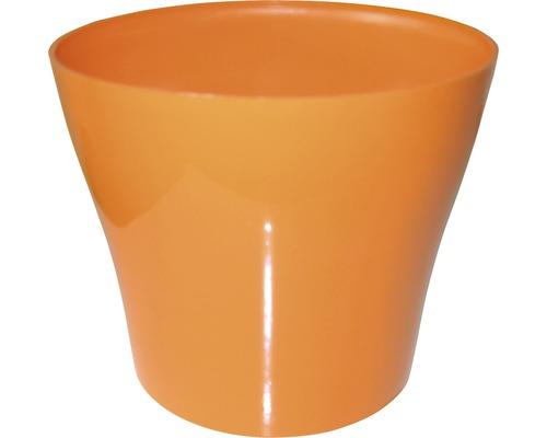 Blumentopf Tulipan gloss Kunststoff Ø 13 H 10,9 cm orange
