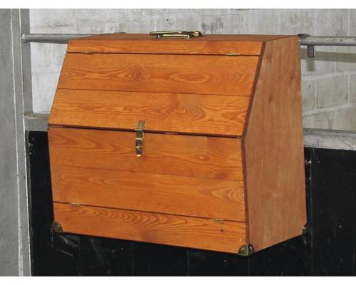 Pferdeputzkasten Massivholz Holger Wulschner Edition 59x25,5x46 cm tauchimprägniert honigbraun
