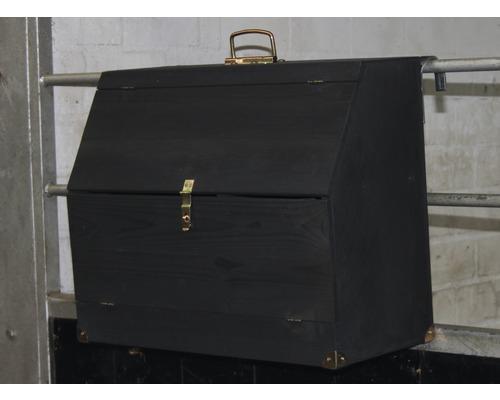 Pferdeputzkasten Massivholz Holger Wulschner Edition 59x25,5x46 cm tauchimprägniert anthrazit