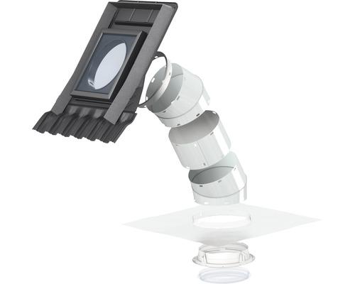 Tageslichtspot VELUX TWR 0K10 für Schrägdach mit profilierten Eindeckmaterialien 36x36 cm inkl. starrem Rohr