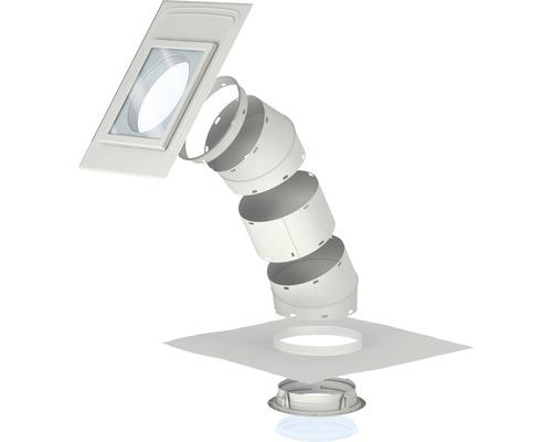 Tageslichtspot VELUX TLR 0K10 für Schrägdach mit flachen Eindeckmaterialien 36x36 cm inkl. starrem Rohr
