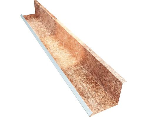 PRECIT Wandanschlußblech für Metallziegel Spanish Granada 2000 x 100 x 115 mm