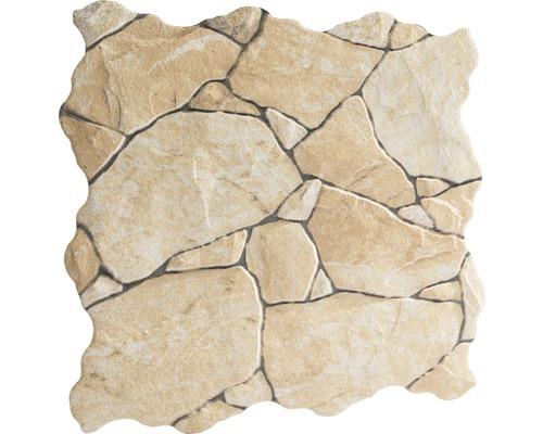 Feinsteinzeug Verblendstein Klimex UltraStrong Nevada Sahara creme 31,5x31,5 cm