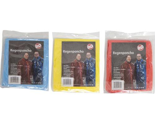 Regenponcho aus Vinyl verschiedene Farben
