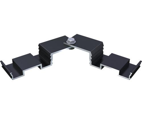 Variabler Eckverbinder für CLIP-Schiene (BIG- / TWIXT- / Isostep H) inkl. Schraube