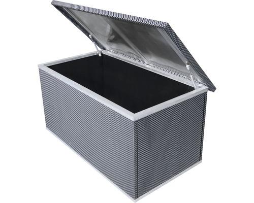Rattan-Auflagenbox 121x67x64 cm anthrazit