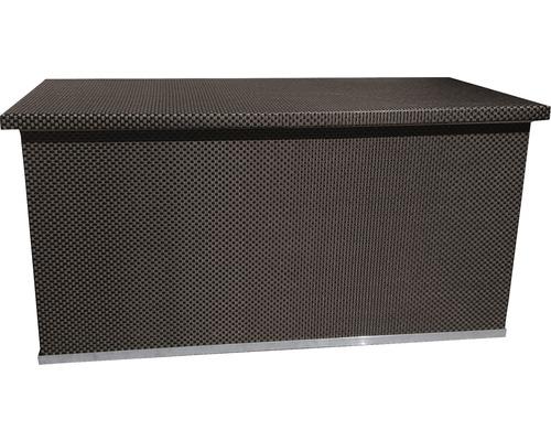 Rattan-Auflagenbox 121x67x64 cm braun