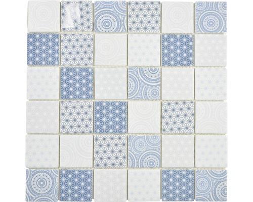 Glasmosaik Emily 41 30x30 cm Blau