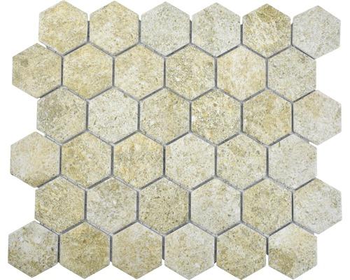 Keramikmosaik HX Curio GB Hexagon 32,5x28,1 cm Beige