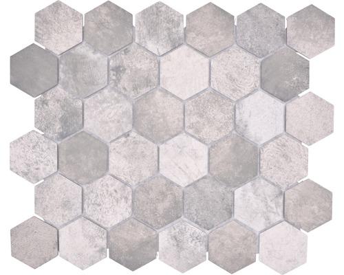 Keramikmosaik HX Curio ZDG Hexagon 32,5x28,1 cm Grau