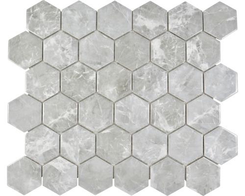 Keramikmosaik HX Curio MG Hexagon 32,5x28,1 cm Grau