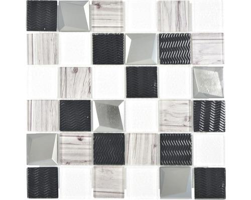 Glasmosaik XCM Coast 29,8x29,8 cm Silber