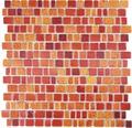 Glasmosaik XCM GME 96 31,7x31,1 cm Rot