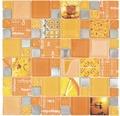 Glasmosaik XCM MC569 Kombination Silver Orange