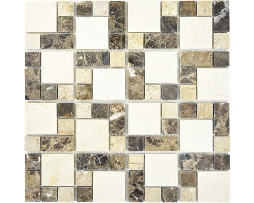 Natursteinmosaik XNM MC759 30,5x30,5 cm Beige/Braun