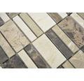 Natursteinmosaik XNM BC459 30x30 cm Beige/Braun
