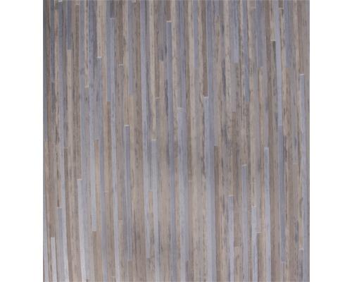 PVC Elara Feinstabparkett weiss metallic 400 cm breit (Meterware)