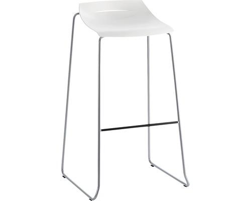 Barhocker Mayer Sitzmöbel myPurism 1159-08-688 36x53x90 cm Gestell perlsilber Sitz weiß
