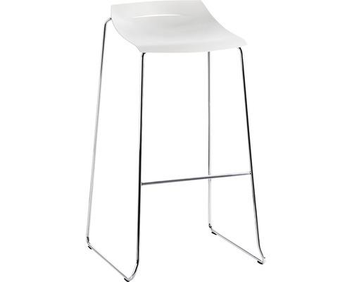Barhocker Mayer Sitzmöbel myPurism 1159-01-688 36x53x90 cm Gestell chrom Sitz weiß