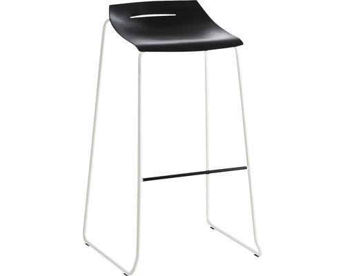 Barhocker Mayer Sitzmöbel myPurism 1159-12-684 36x53x90 cm Gestell weiß Sitz dunkelgrau