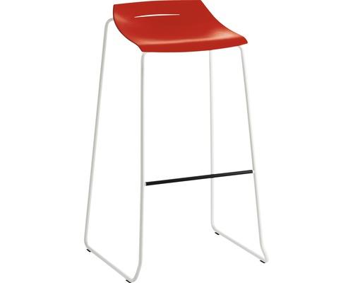 Barhocker Mayer Sitzmöbel myPurism 1159-12-681 36x53x90 cm Gestell weiß Sitz rot
