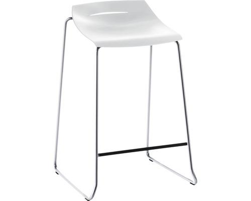 Barhocker Mayer Sitzmöbel myPurism 1149-01-688 36x51,5x75 cm Gestell chrom Sitz weiß