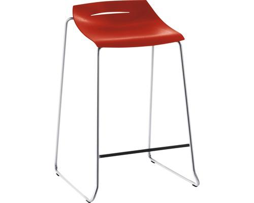 Barhocker Mayer Sitzmöbel myPurism 1149-01-681 36x51,5x75 cm Gestell chrom Sitz rot