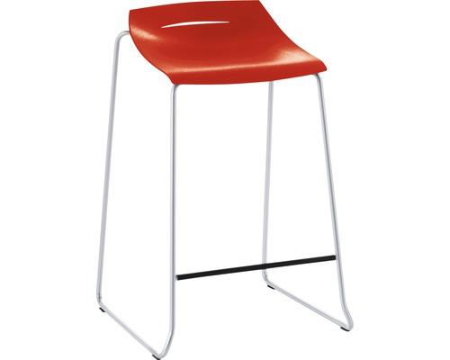 Barhocker Mayer Sitzmöbel myPurism 1149-08-681 36x51,5x75 cm Gestell perlsilber Sitz rot