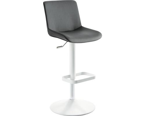 Barhocker Mayer Sitzmöbel myDivo 1235G-12-564 38x44x85-109 cm Gestell weiß Sitz grau