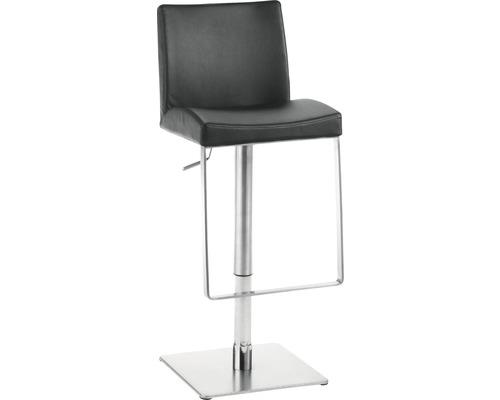 Barhocker Mayer Sitzmöbel myBreak 1260E-37 36x40x87-110 cm Gestell edelstahl Sitz schwarz