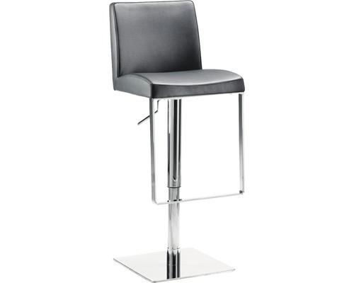 Barhocker Mayer Sitzmöbel myBreak 1260-37 36x40x87-110 cm Gestell chrom Sitz schwarz