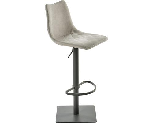 Barhocker Mayer Sitzmöbel myToby 1275-14-544 39x43x85-110 cm Gestell grau Sitz lichtgrau
