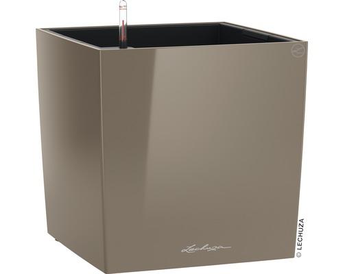 Pflanzkübel Lechuza Cube Premium 40 40x40x40 cm taupe inkl. Pflanzeinsatz und Erdbewässerungssystem