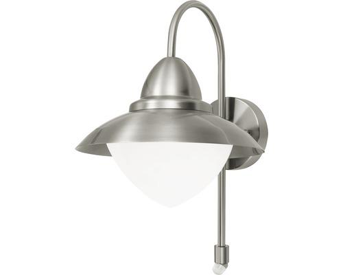 Sensor Außenwandleuchte 1-flammig H 375 mm Sidney edelstahl/opal-matt