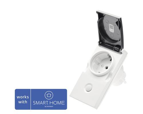 Popp Zwischenstecker Smart Outdoor Plug IP44 mit Repeaterfunktion - Kompatibel mit SMART HOME by hornbach