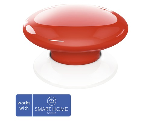 Fibaro Smart Button rot - Kompatibel mit SMART HOME by hornbach