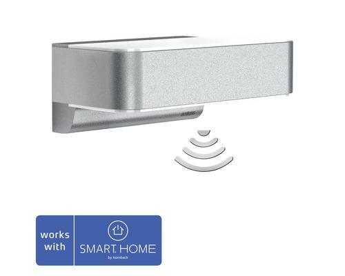Steinel LED Sensor Wandleuchte mit Repeaterfunktion 12,5W 612 lm 3000 K warmweiß HxBxT 88x230x145 mm L 810 LED iHF Up-/Downlignt Smart Friends silber - Kompatibel mit SMART HOME by hornbach