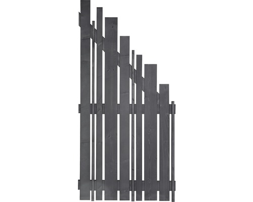 Abschlusselement Konsta Various rechts 90x180/90 cm basaltgrau
