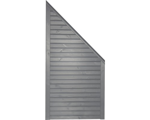 Abschlusselement Konsta Diamond rechts 90x180/90 cm hellgrau