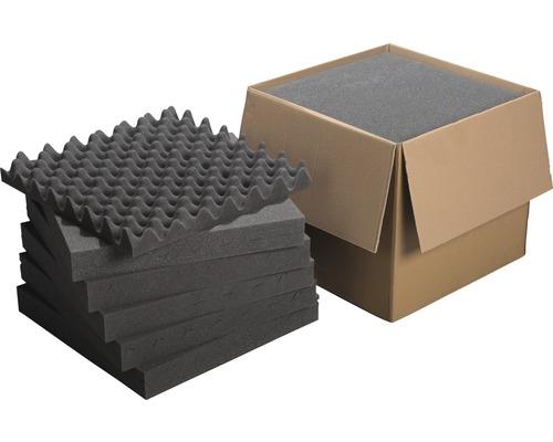 Profipack Akustik-Schaumstoff Noppenplatte Akupur 50x50x5 cm 12 Stück