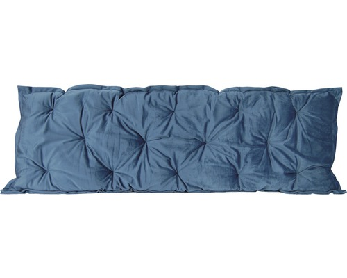 Palettenrückenkissen Velvet grau blau 120x40 cm