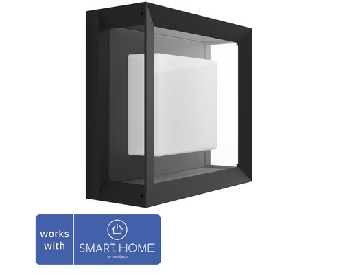 Philips hue LED Wandleuchte Econic White & Color Ambiance 15W 1150 lm schwarz 115x260 mm - Kompatibel mit SMART HOME by hornbach