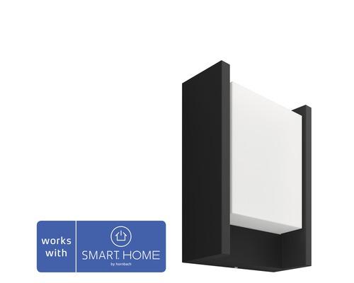 Philips hue LED Wandleuchte Fuzo White Ambiance 15W 1150 lm 2700 K warmweiß schwarz H 221 mm - Kompatibel mit SMART HOME by hornbach