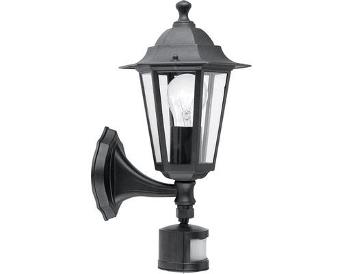 Außenwandleuchte Laterna mit Sensor schwarz 1-flammig H 425 mm