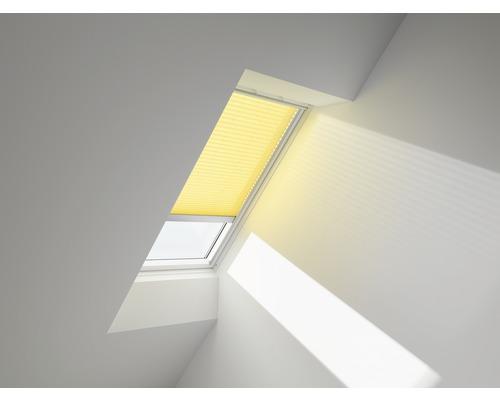 VELUX Plissee-Faltstore gelb uni solarbetrieben FSL S31 1271S