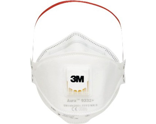 Atemschutzmaske 3M™ Aura™ 9332PRO5, Schutzklasse FFP3, 5er Pack